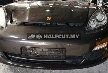 Porsche Panamera 4.8 halfcut front cut, rear cut