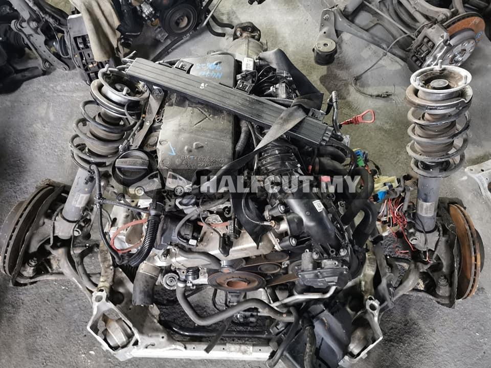 W205 651 924 Diesel turbo engine set,suspension frt n rear complete set, ecu, abs pump,steering rack