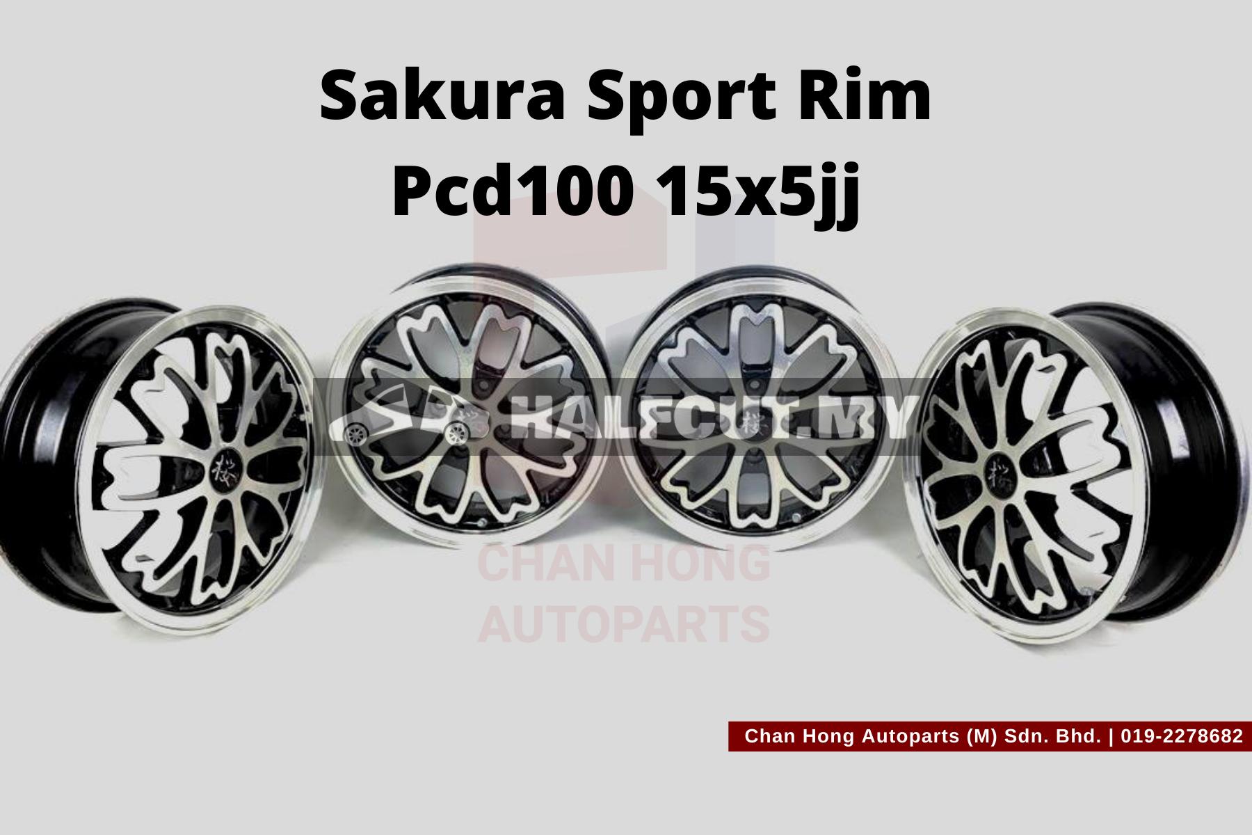 Sakura Sport Rim Pcd100 15x5jj
