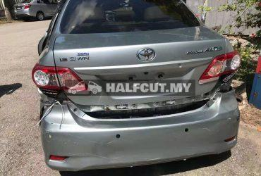 TOYOTA ALTIS 142 2ZR AUTO FRONT CUT AND REAR CUT